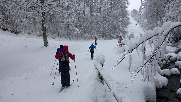 Esqui de fondo valle de tena